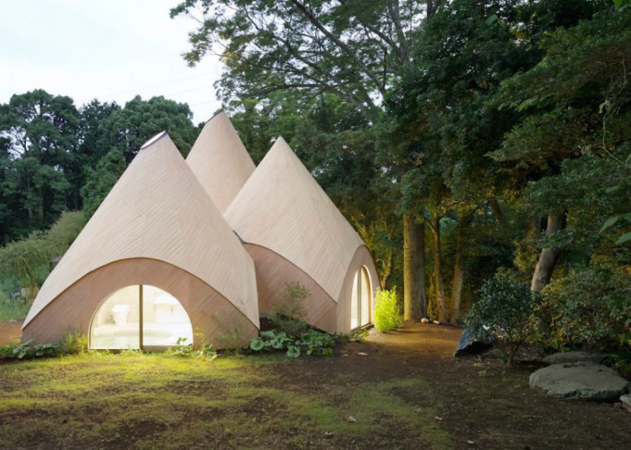 kitchen area rug commercial equipment teepee-shaped home complex in the mountains of japan
