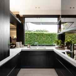Kitchen Window Ideas Tall Garbage Can Cooking With Pleasure Modern View In Gallery Big