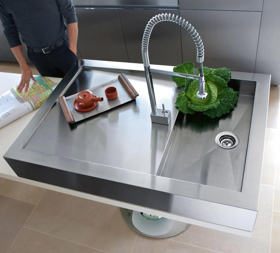 dornbracht faucet kitchen pull down faucets modern sink designs that look to attract attention