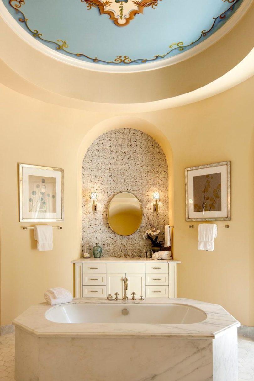 Round ceiling via Village Properties