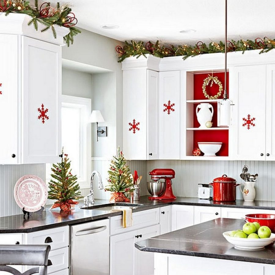 decoration kitchen chair pads 23 ways to decorate your for the holidays view in gallery bright and simple christmas decorations