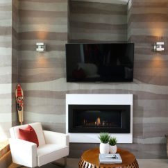 Living Room Fireplace And Tv Interior Design Designs With Brown Leather Furniture Elegant Contemporary Creative Wall Ideas Interesting By One Work View In Gallery Midori Uchi Naikoon Cont Kerschbaumer Des