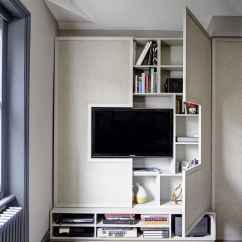 Sleek Tv Unit Design For Living Room Furniture Canadian Tire Elegant Contemporary And Creative Wall Ideas View In Gallery Storage Friendly