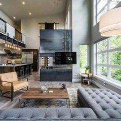 Design Living Room With Fireplace And Tv Brown Leather Furniture Elegant Contemporary Creative Wall Ideas Three Sided A By Jordan Iverson