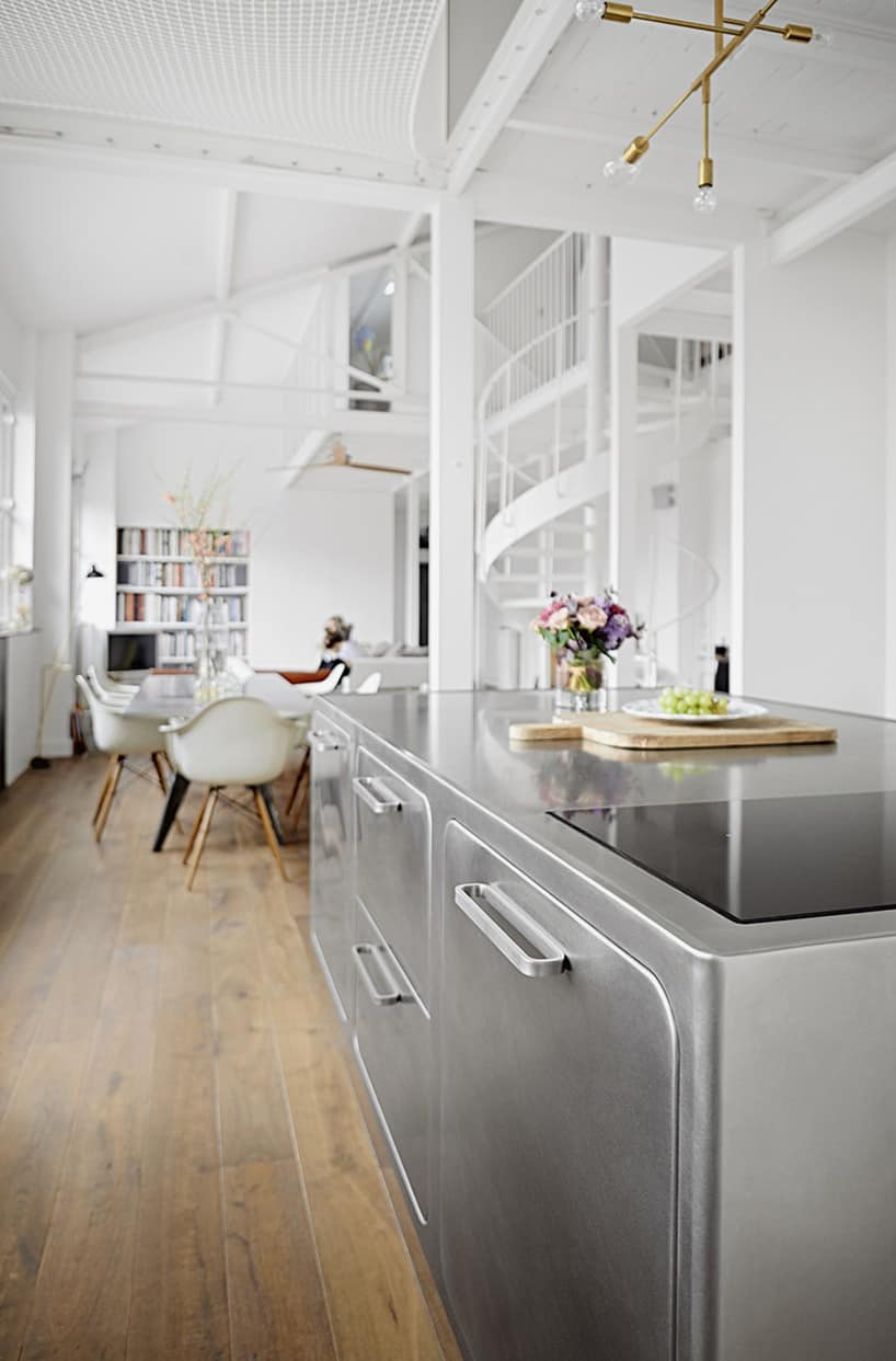 kitchen island and table oak tables french loft with a scandinavian spirit