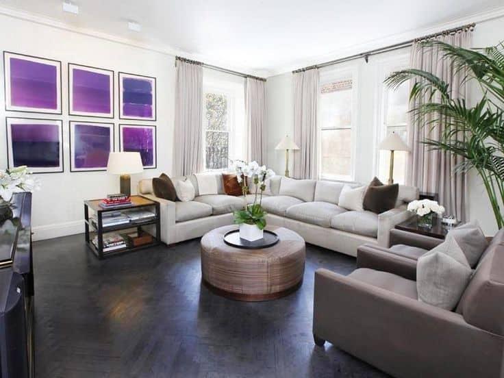 living room pictures with dark hardwood floors | ideasidea