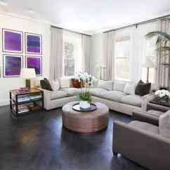 Dark Wooden Floor Living Room Small Ideas With Black Leather Sofa 40 Hardwood Floors That Bring Life To All Kinds Of Rooms View In Gallery A Feminine Inspired