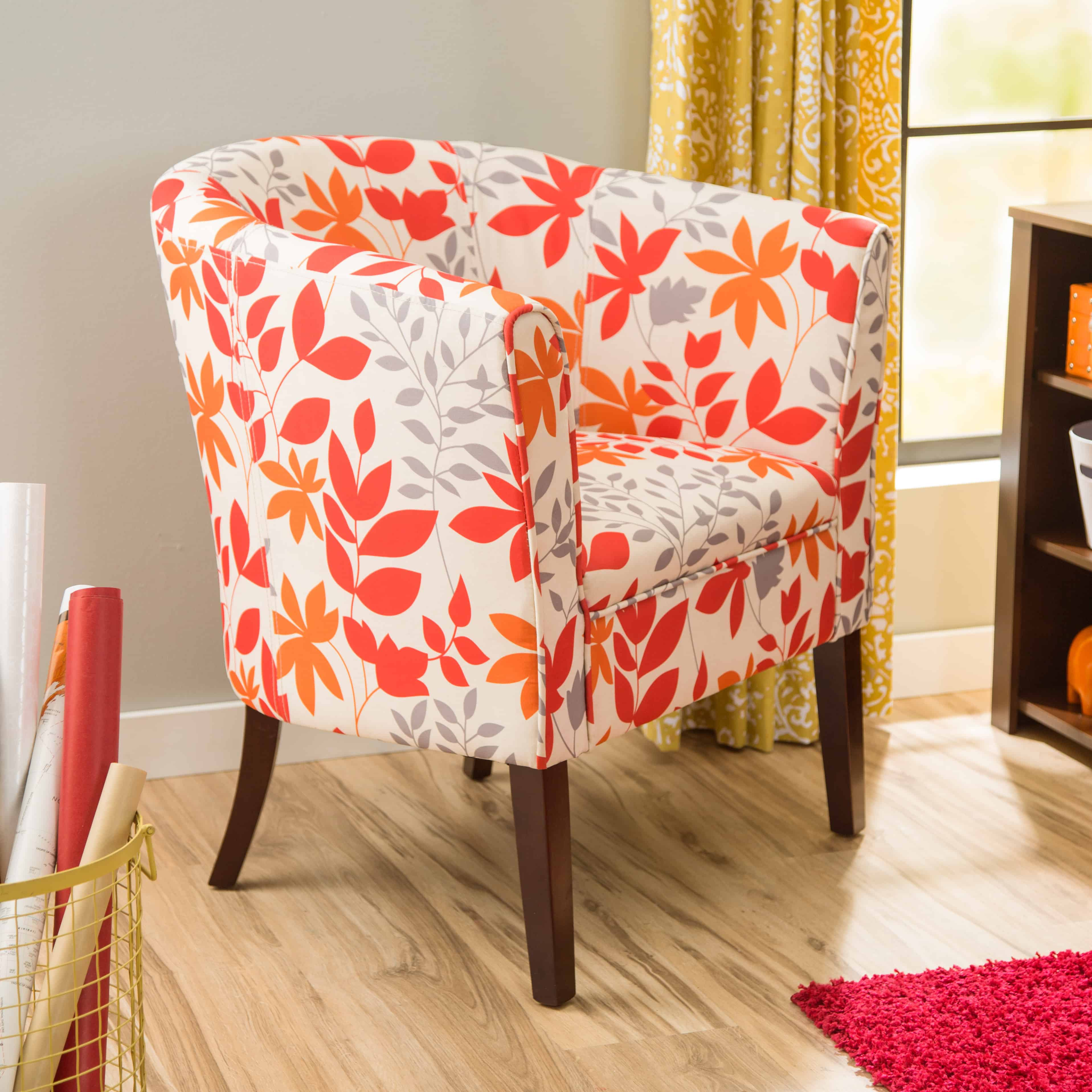floral print accent chairs wing chair cover 10 ways to add a flair your home