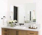 modern bathroom floating vanities