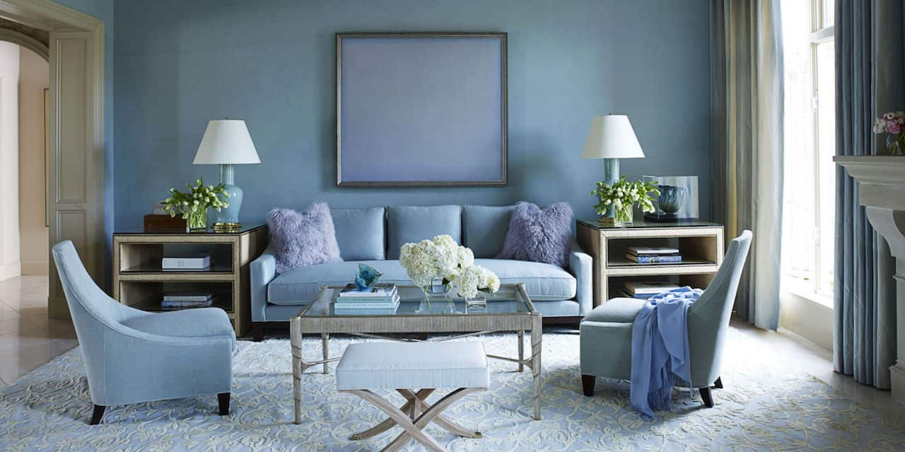 living room blue decorating ideas with oriental rugs how to properly decorate shades of cheerful walls