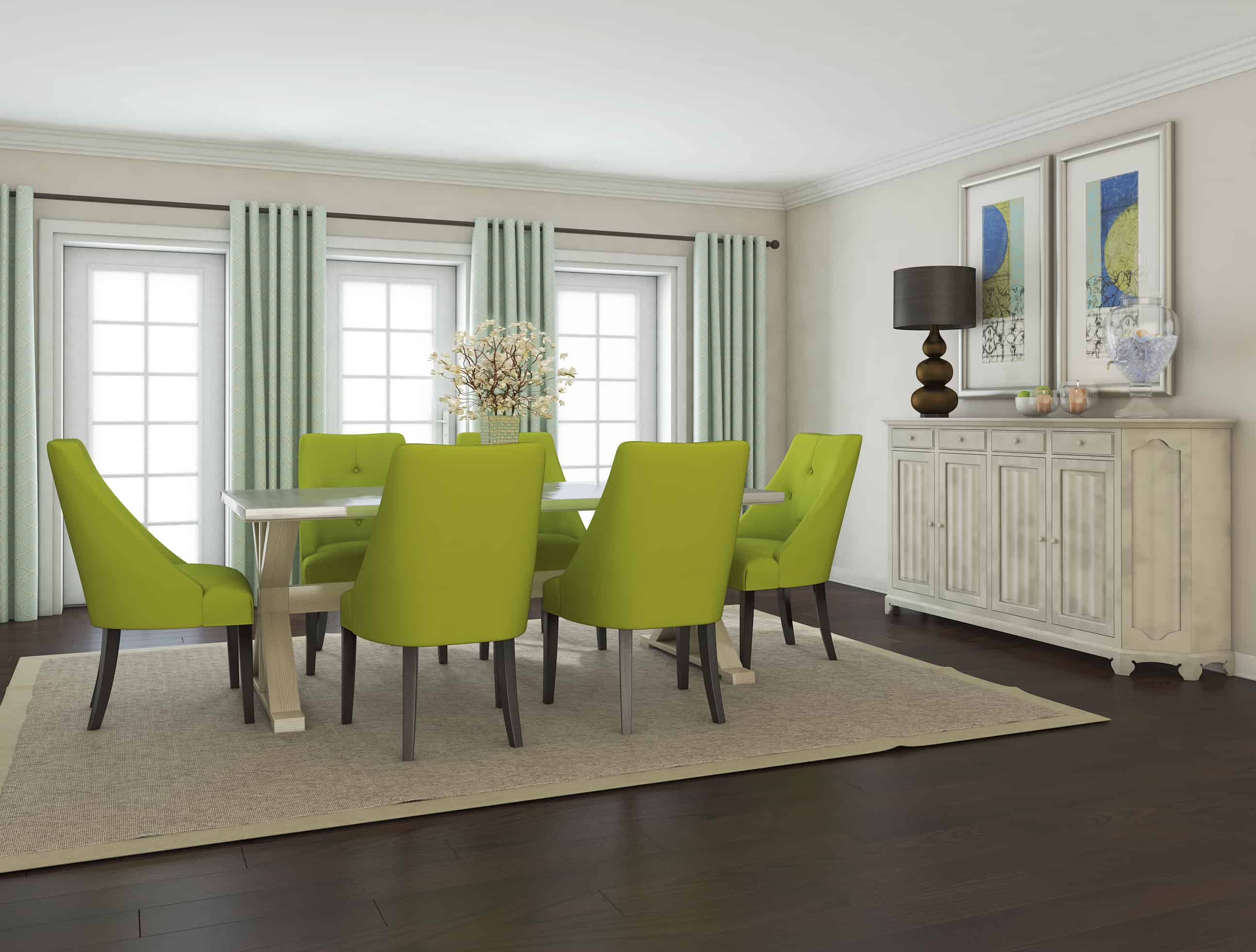 green dining room table and chairs small bedroom chair uk modern tables that are on trend is in