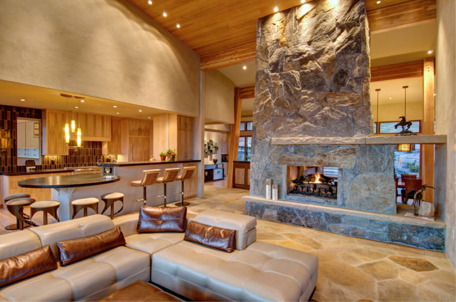 formal living room with brick fireplace toy storage ideas these 15 double-sided fireplaces wishing for the coldest ...