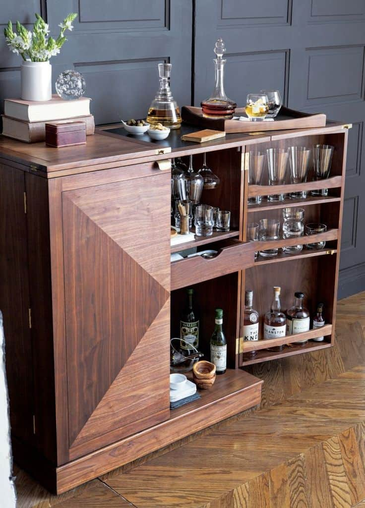 15 Bar Cabinets That Will Have You Planning Dinner Parties
