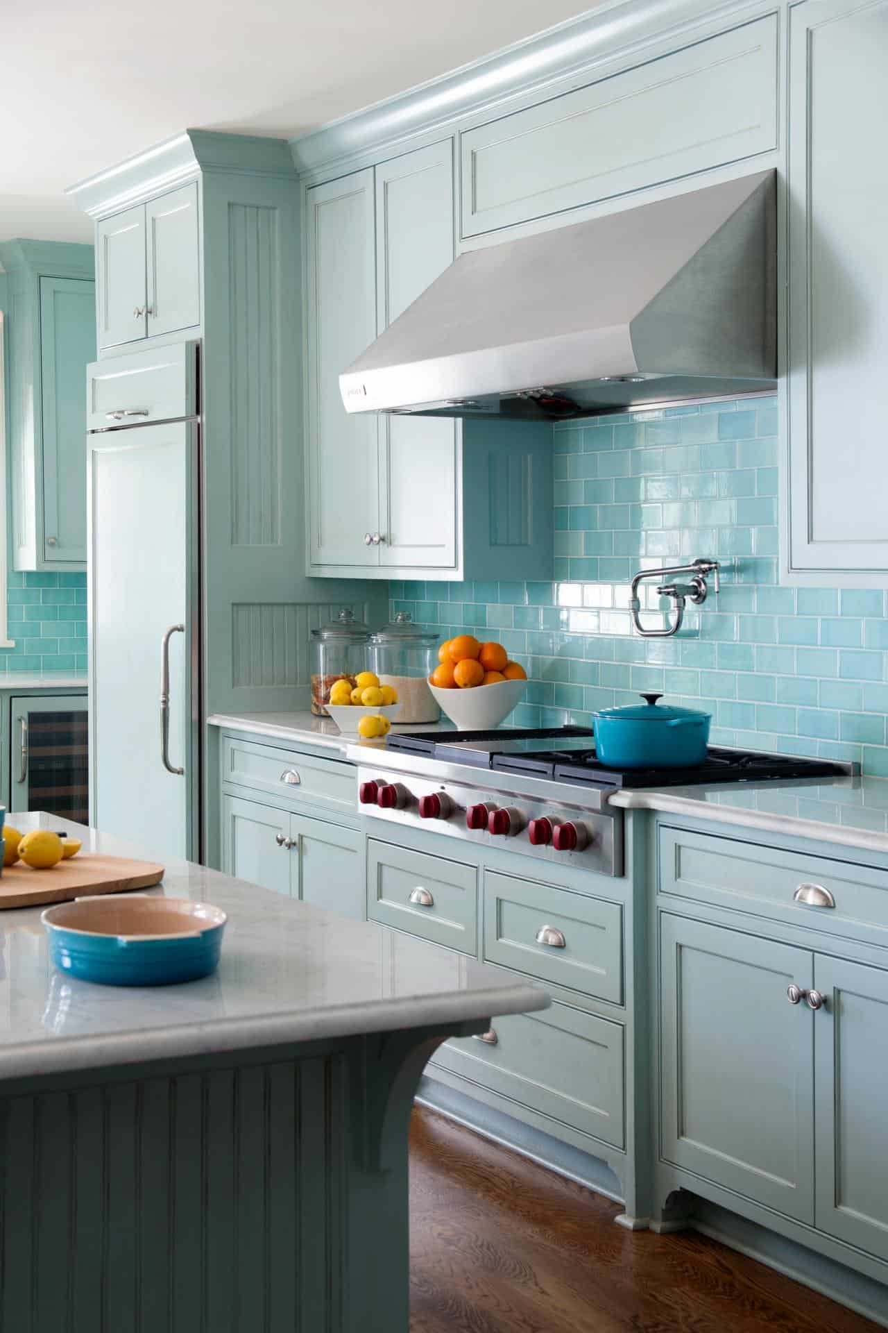 retro kitchen tile backsplash high table sets ideas to upgrade your current