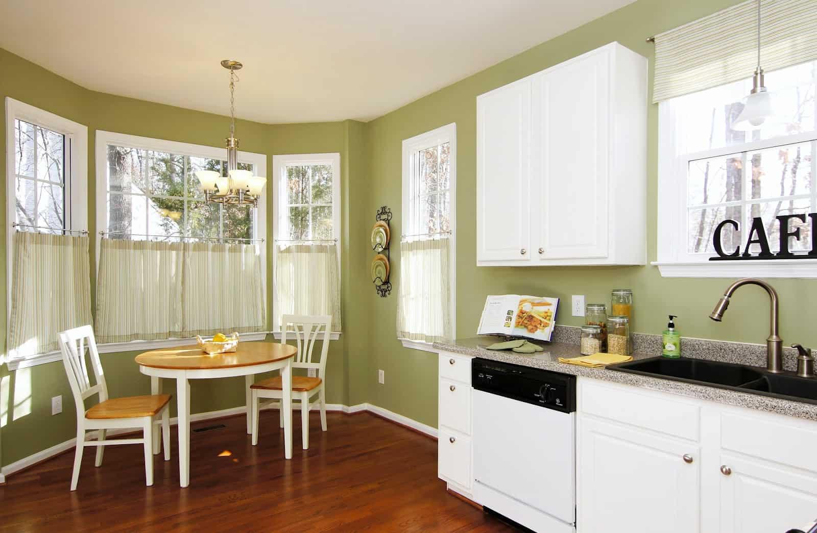 kitchen nook curtains ikea islands trendy breakfast ideas