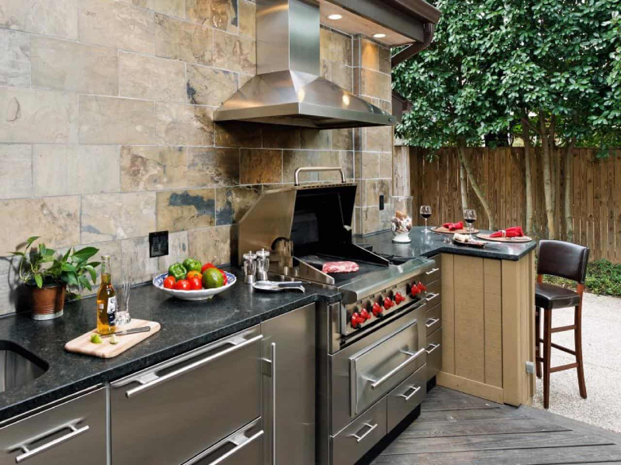 outdoor kitchen bar l shaped bench table ideas that will make you drool build it on your own