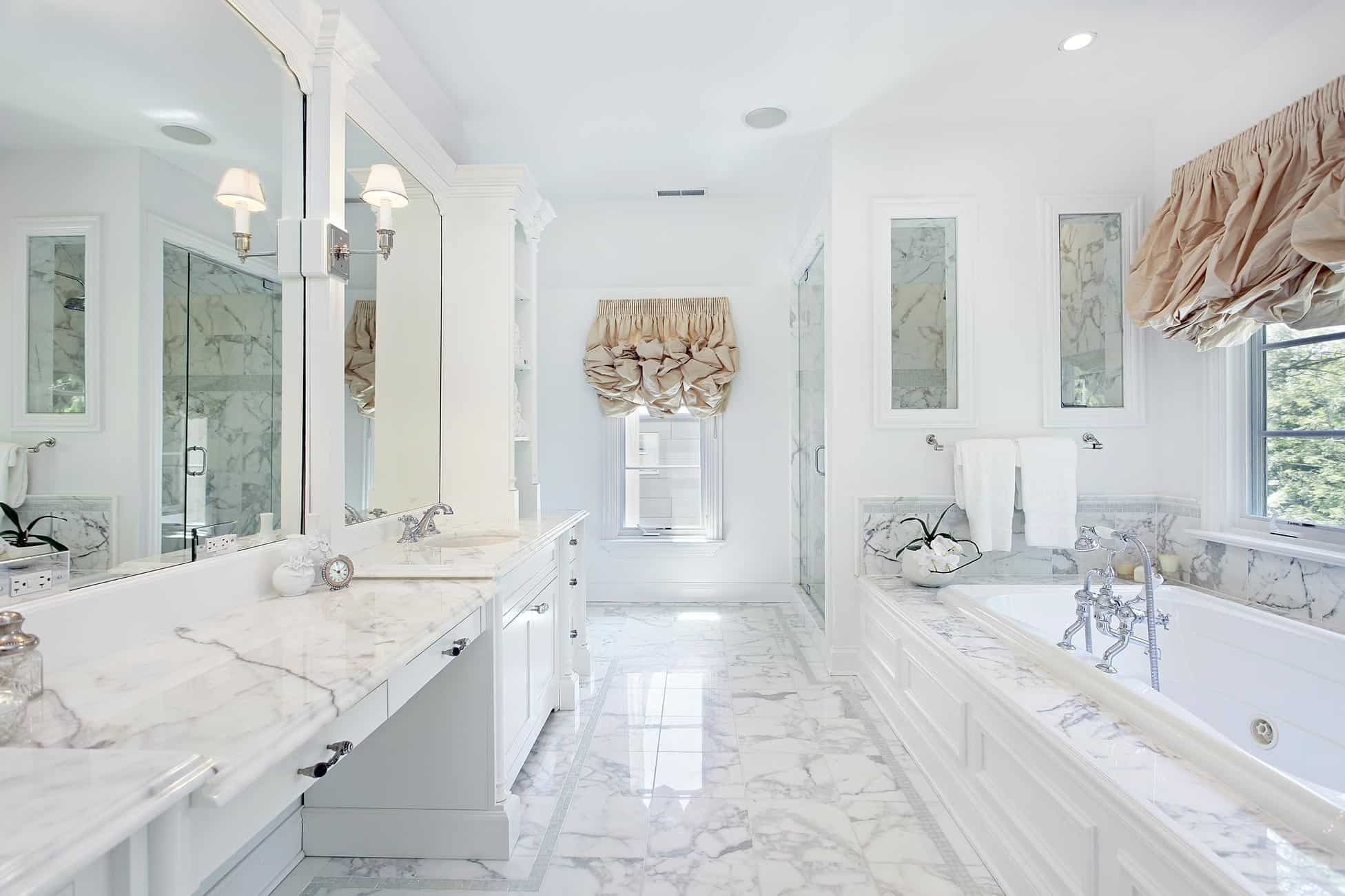 White Bathroom Designs That Will Inspire Your Next
