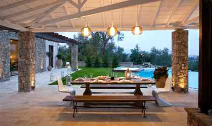 outdoor luxury dining space modern luxurious