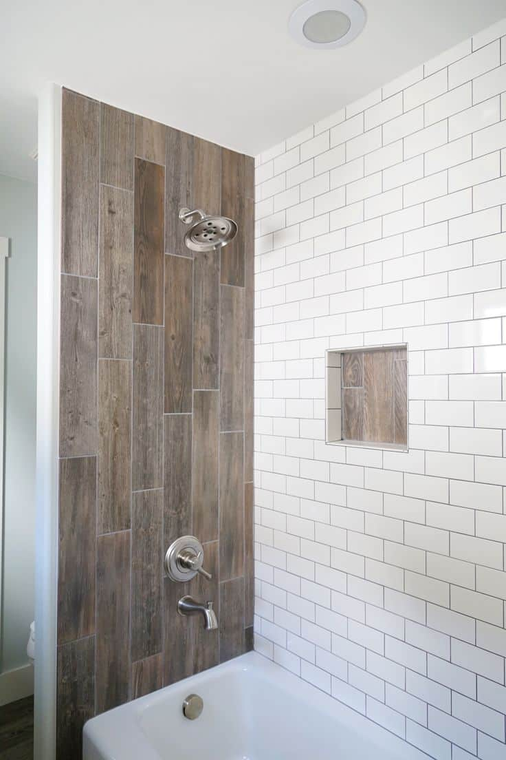with wood tile