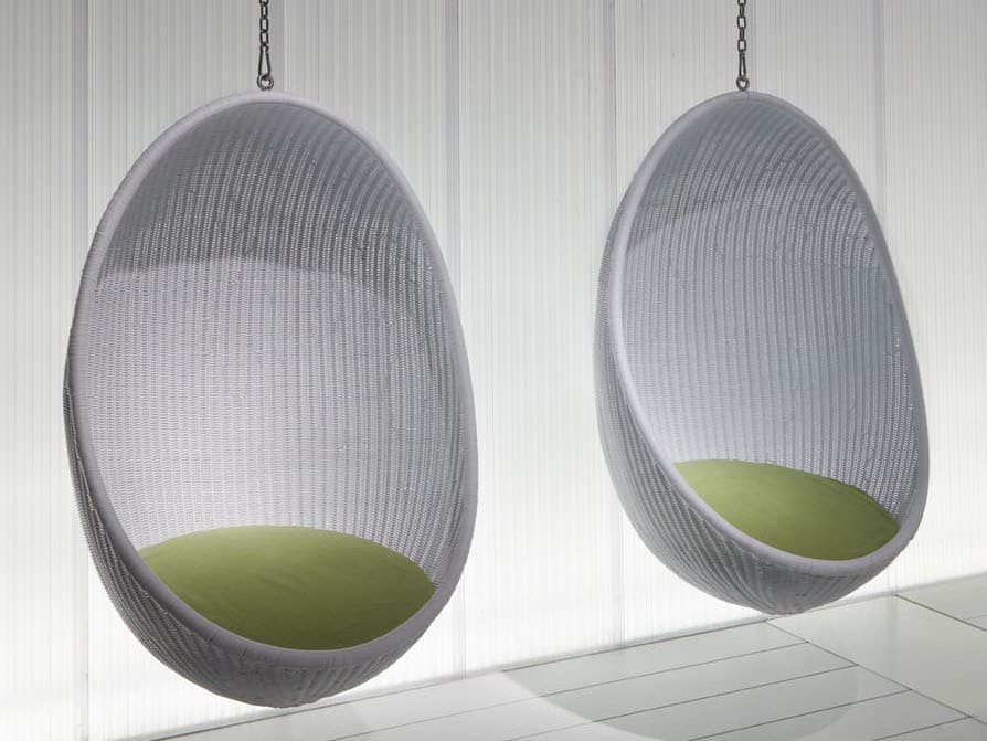 steel chair with cushion striped parsons chairs suspended wicker egg by pierantonio bonacina