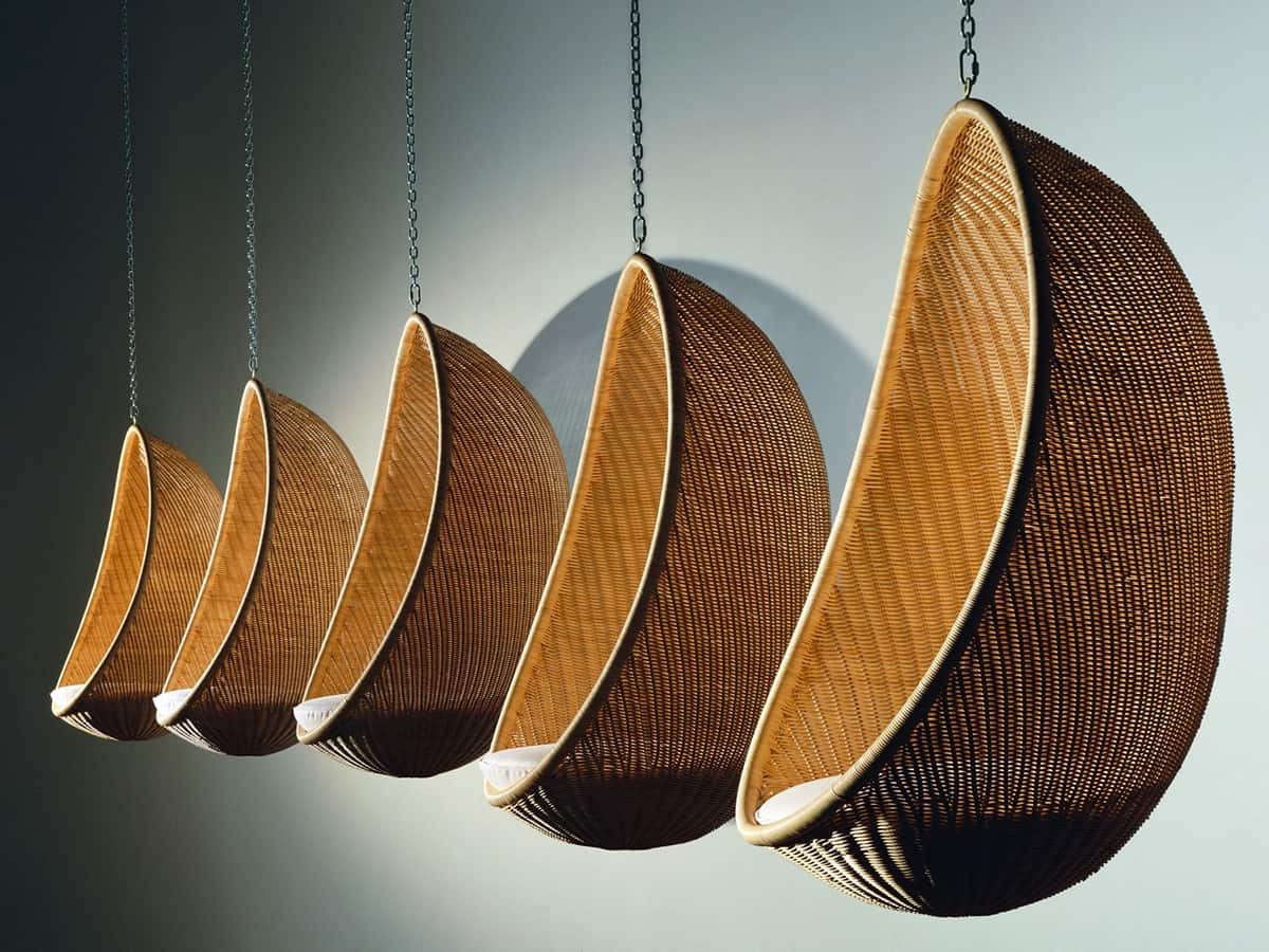 Egg Wicker Chair Suspended Wicker Chair Egg By Pierantonio Bonacina