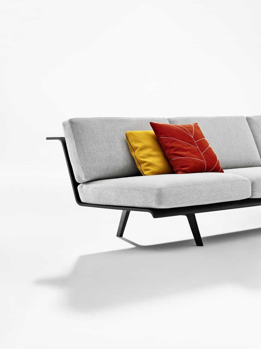 room and board leather sofa bed grey images versatile modular system: zinta from arper