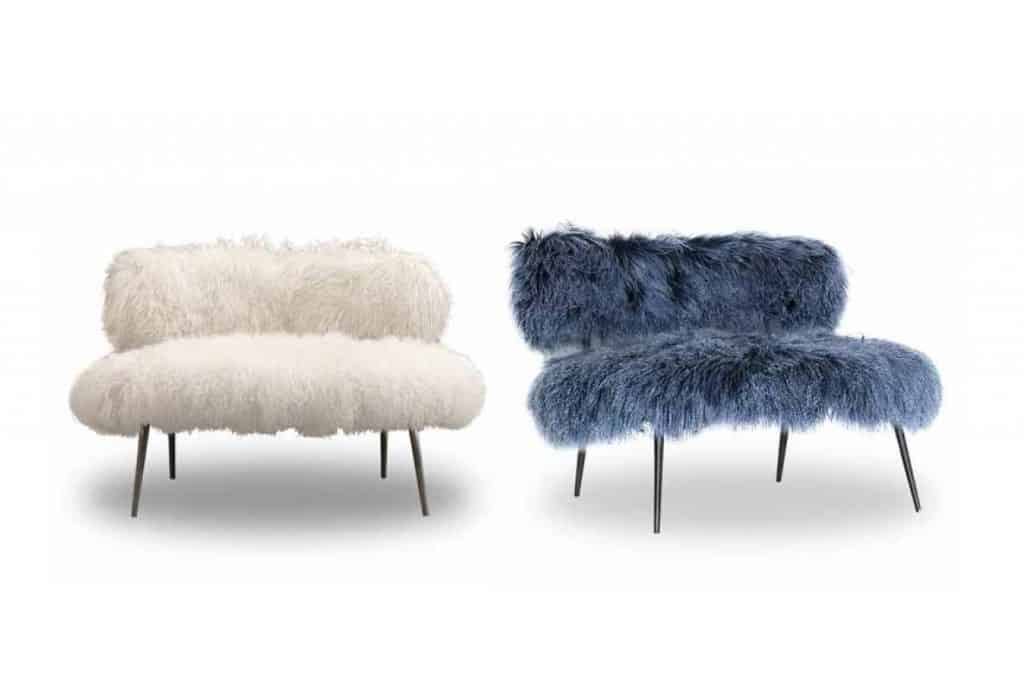 old metal chairs patio chair slings faux fur furniture from baxter by paola navone: nepal
