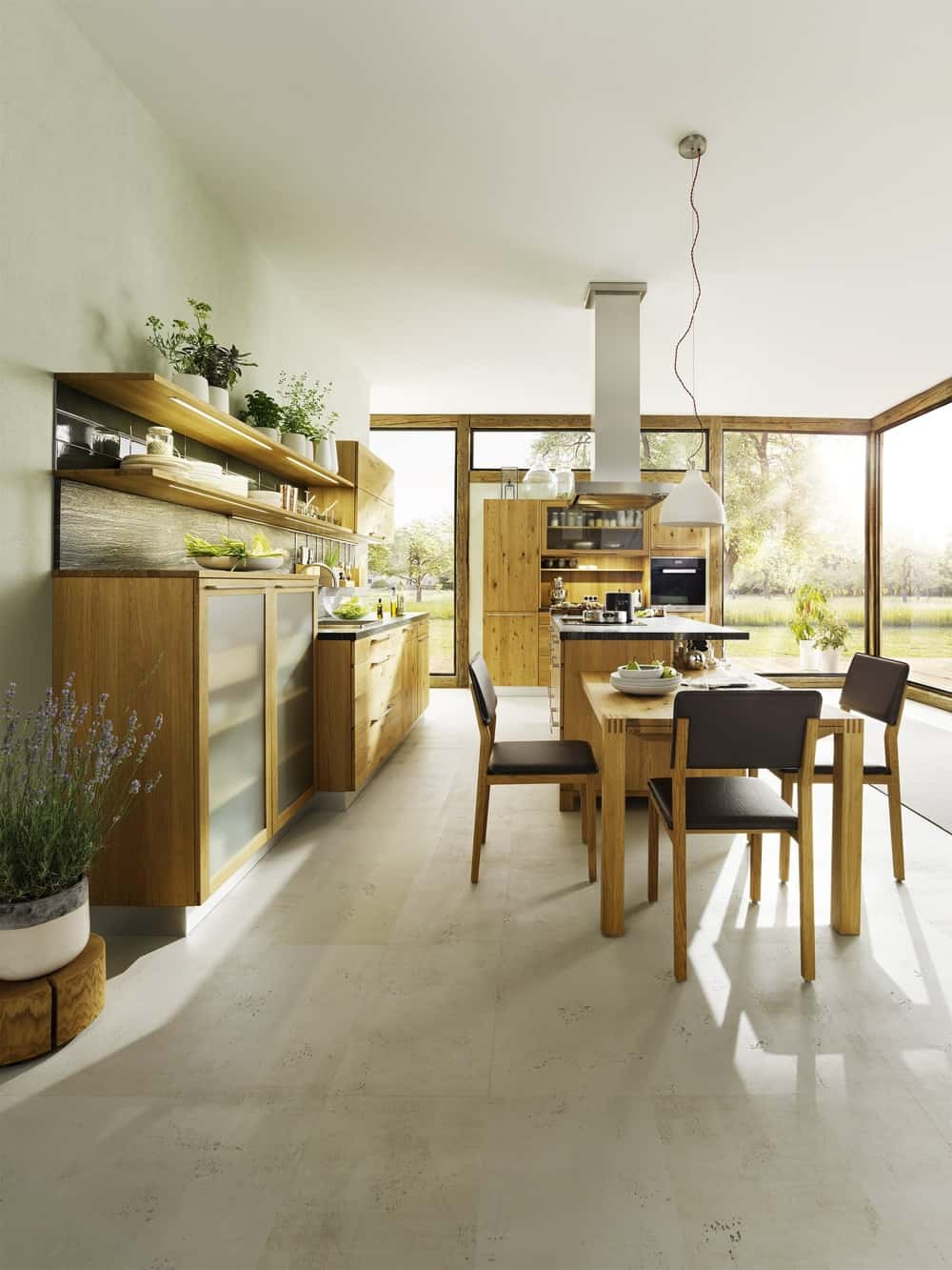 Loft Kitchen by TEAM7 has Modern Woodsy Aesthetic