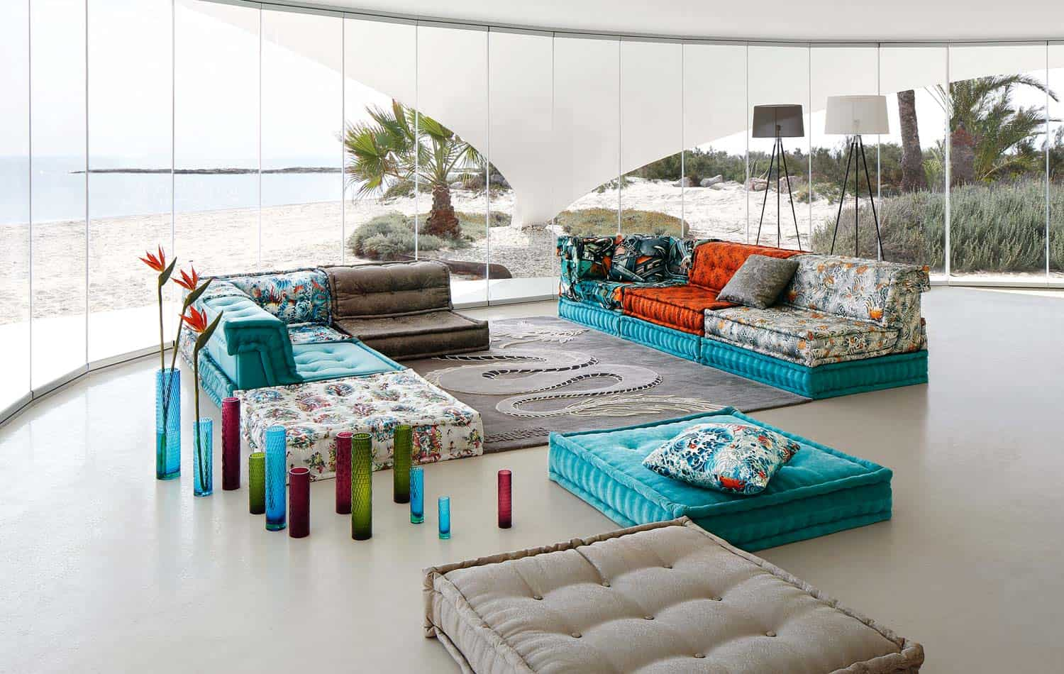 the mah jong sofa from ligne roset design sofabord glas roche bobois in jean paul gaultier designed