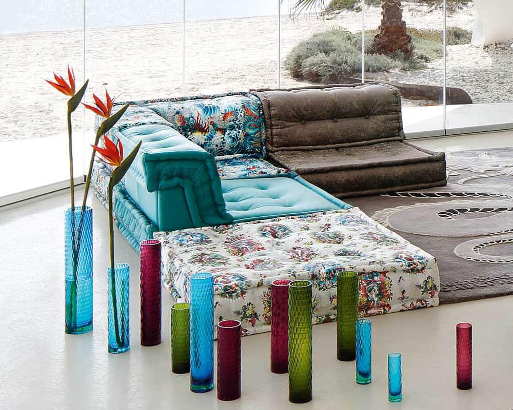 sectional living room design led ceiling light roche bobois mah jong sofa in jean paul gaultier designed ...