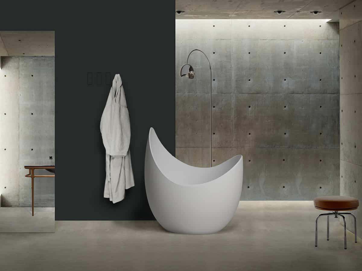 The Lunette Bathtub for Antonio Lupi is a Luxurious Escape