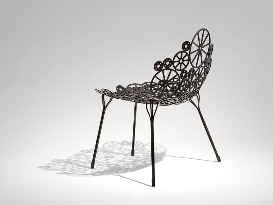 sofa tables pinterest black faux leather sleeper laser cut metal furniture estrella by fernando and ...