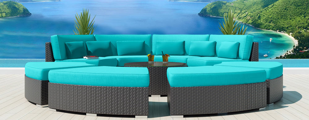 9piece Round Outdoor Sectional Sofa Set  Modavi by Uduka