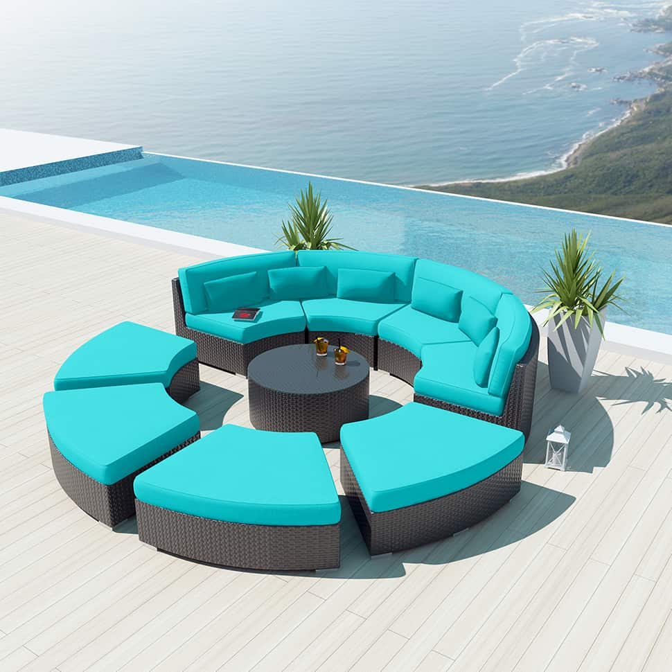 outdoor chair cushions set of 4 bedroom gold coast 9-piece round sectional sofa - modavi by uduka