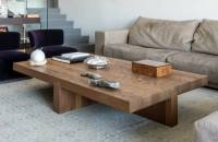 Large Wooden Coffee Table DIY Idea