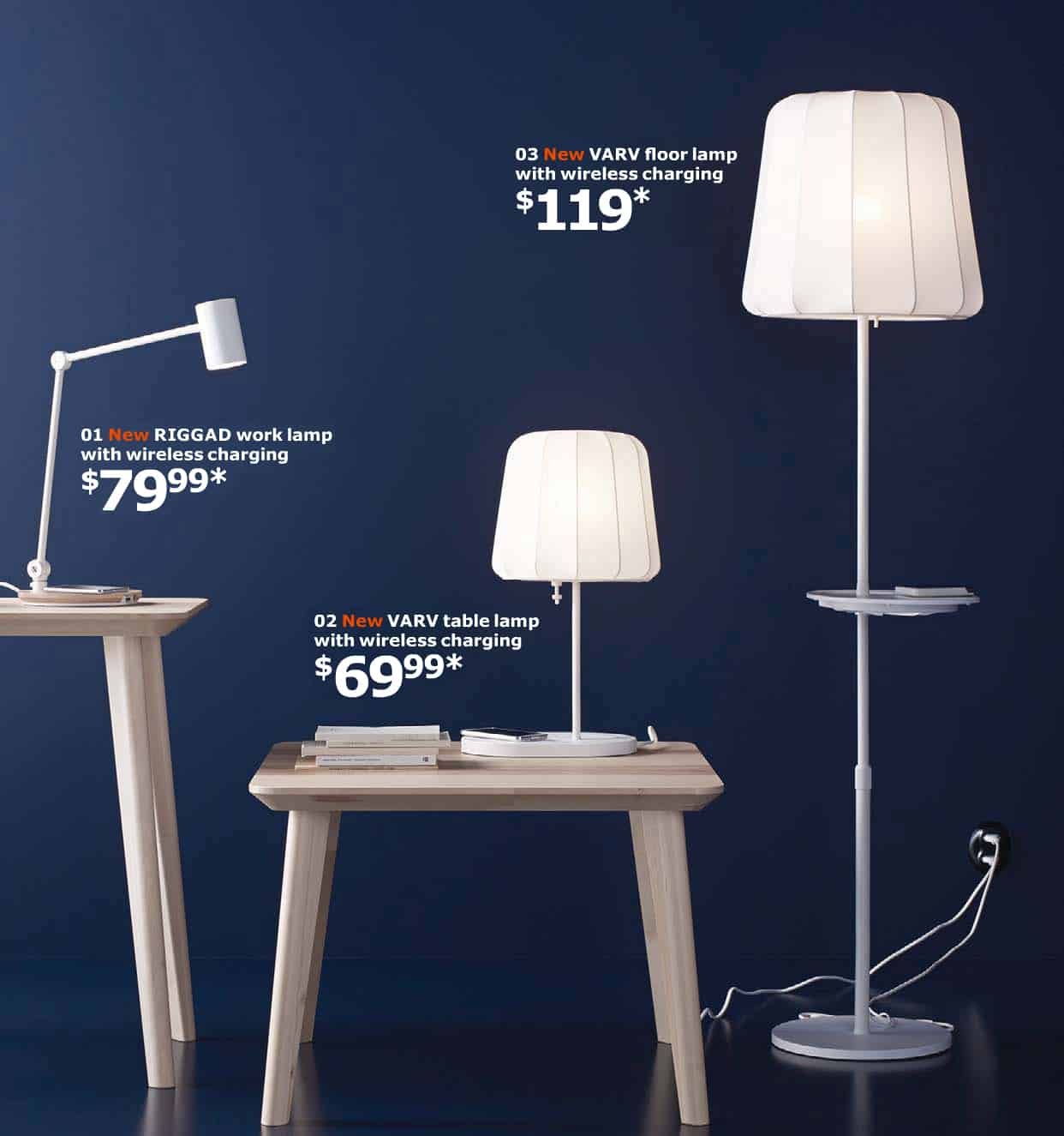 ikea lamps with wireless charging let