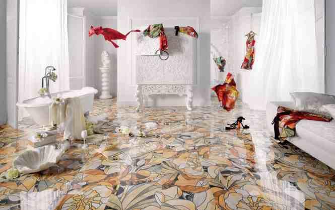 View In Gallery Hexagon Tile Flooring Argila Origine Peronda Brown Jpg