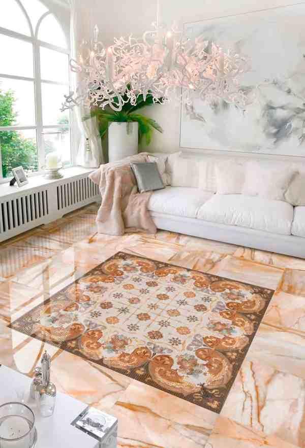 Decorative Floor Tile Living Room Photos