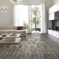 Living Room Tile Ideas How To Arrange A With Fireplace And Tv 25 Beautiful Flooring For Kitchen View In Gallery Victorian Look Ceramic Eco