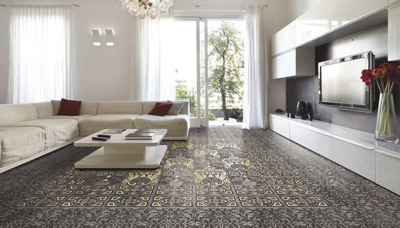 Living Room Ceramic Tile Flooring Ideas | 1025theparty.com