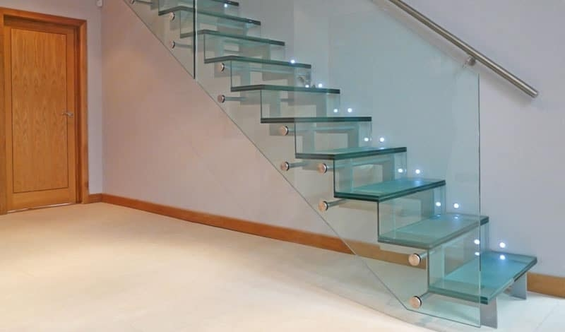 15 Geometric Staircase Designs | Stairs With Glass Sides