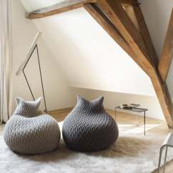 Living Room Pouf Lounger 50 Cutest Poufs For Modern Rooms Indoor And Outdoor The Funky Looking Slumber By Casalis Are Made In A Three Dimensional Elastic Fabric Their Shapes Highly Flexible It S Like Sinking Down Into