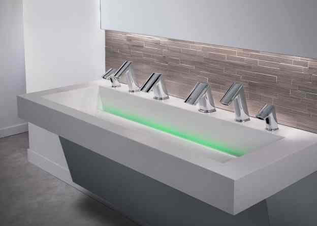 one sink does all three: soap, wash and dry touch-free
