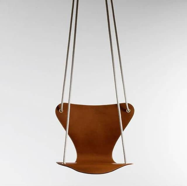 love swing chair wedding covers leicestershire indoor hanging seats 20 fun favorites this leather collaboration between fritz hansen and louis vuitton is called the series 7 reminds me of ant