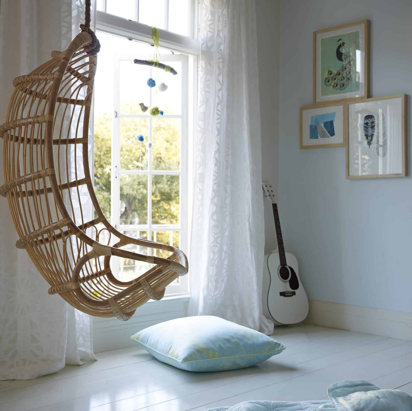 serena and lily hanging chair lounge leather indoor seats: 20 fun favorites
