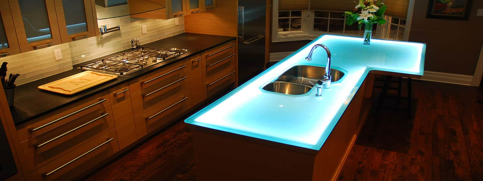 Beautiful Modern Kitchen Countertops From Unusual Materials 30 Ideas