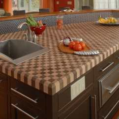 Wood Kitchen Counters Bay Window Curtains Modern Countertops From Unusual Materials 30 Ideas View In Gallery