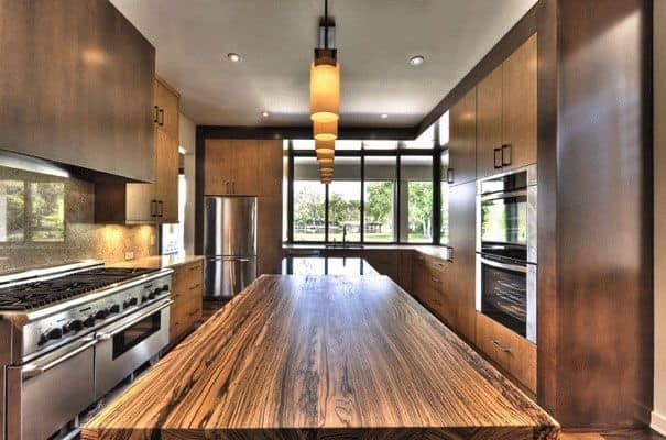 wood countertops kitchen utensils modern from unusual materials 30 ideas the exotic zebra countertop is a design piece no question don t gorgeous grains carry your eye right down length of