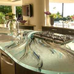 Kitchen Counter Tops Top Table Sets Modern Countertops From Unusual Materials 30 Ideas View In Gallery