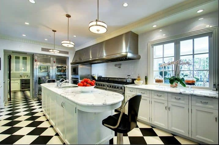 tile flooring kitchen cost of painting cabinets professionally simple remodel chess floors can change the game view in gallery